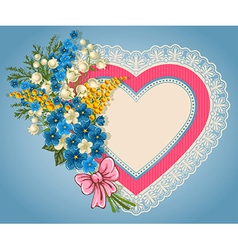 Cute valentine card vector