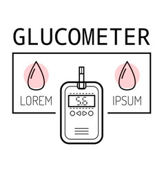 device for measuring blood sugar flat icon of vector image