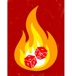 dice fire vector image