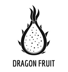 Dragon fruit icon simple style vector
