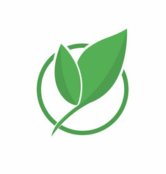 Ecology logo abstract eco green leaf symbol icon vector