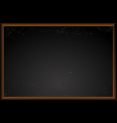 empty black school chalkboard vector image