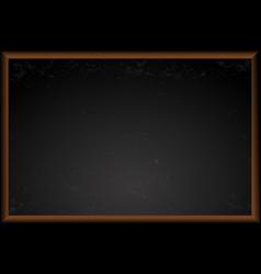 empty black school chalkboard vector image