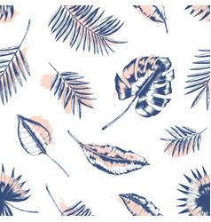 exotic seamless pattern with tropical foliage vector image