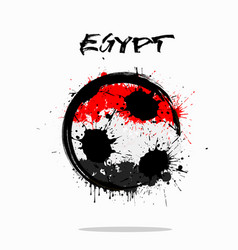 flag of egypt as an abstract soccer ball vector image