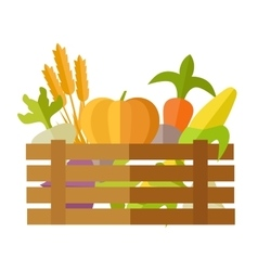 Fresh Vegetables at the Market vector image