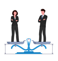 Gender equality concept woman and man are vector