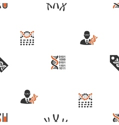 Genetic Science Seamless Flat Wallpaper vector