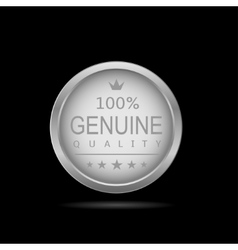 Genuine quality label vector