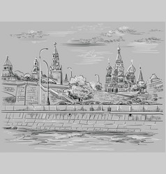 grey moscow-4 vector image