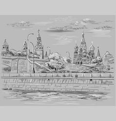 Grey moscow-4 vector
