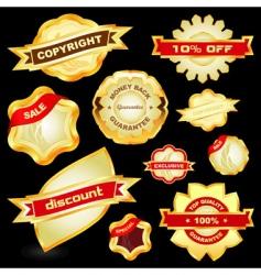 guarantee label set vector image