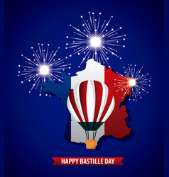 Happy bastille day france vector