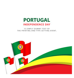 Happy portugal independence day celebration vector