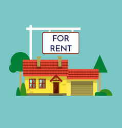 home for rent icon real estate concept template vector image
