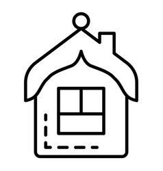 house tree toy icon outline style vector image