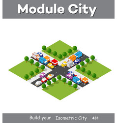 isometric module area downtown vector image