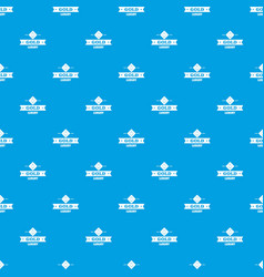 Jewelry gold pattern seamless blue vector
