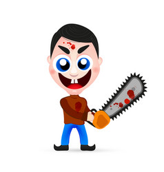 Killer wielding a chainsaw vector