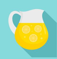 lemonade jug icon flat style vector image