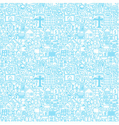 line house white seamless pattern vector image
