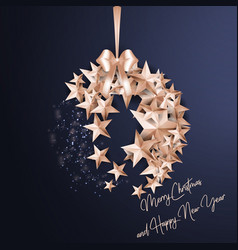merry christmas ball made from stars vector image