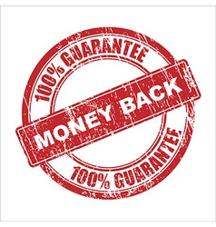 Money back stamp vector