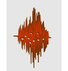 music relative image sound wave curve vector image