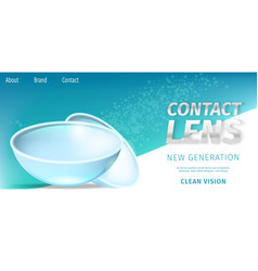 New generation clean vision daily contact lenses vector