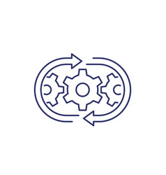 Optimization process or operations line icon vector