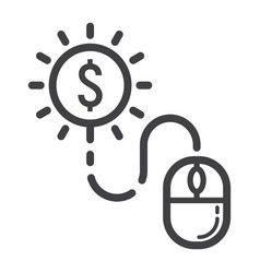 pay per click line icon seo and development vector image