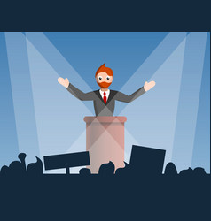political speaker concept background cartoon vector image