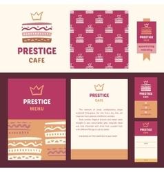 Prestige cafe elegant style vector