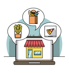 restaurant and delivery vector image