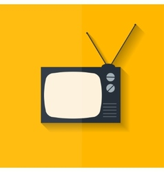 Retro tv icon flat design vector