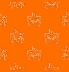 Robot crab pattern orange vector