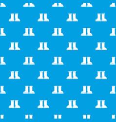 Rubber garden boots pattern seamless blue vector