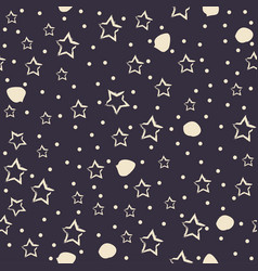 seamless abstract background with stars vector image