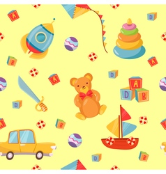 Seamless pattern with children toys vector