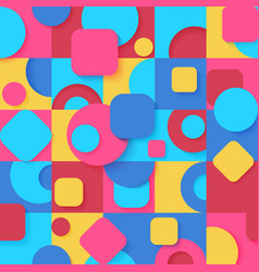 seamless pop art colorful abstract geometric vector image
