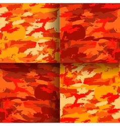 set 4 fashion camouflage patterns vector image