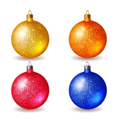 Set of bright colored Christmas balls vector image