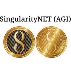 Set of physical golden coin singularitynet agi vector