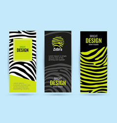 set vertical roll up with black stripes bright vector image