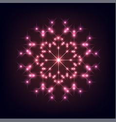 Shiny christmas snowflake vector