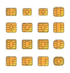Sim card set vector