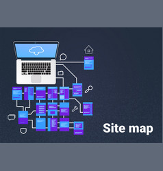 Site map suitable for info graphics websites and vector