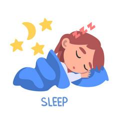 Sleep word verb expressing action vector