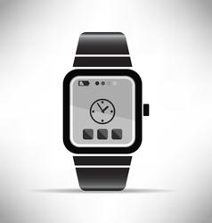 Smart watch wearable technology eps 10 vector