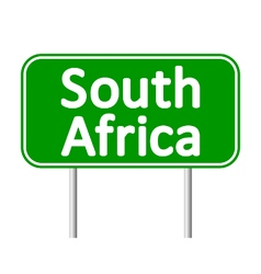 South Africa road sign vector